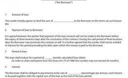 009 Formidable Family Loan Agreement Template Pdf Image  Free