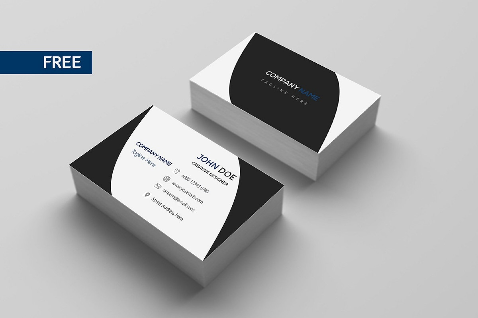 009 Formidable Free Busines Card Design Template Highest Clarity  Templates Visiting Download Psd Photoshop1920