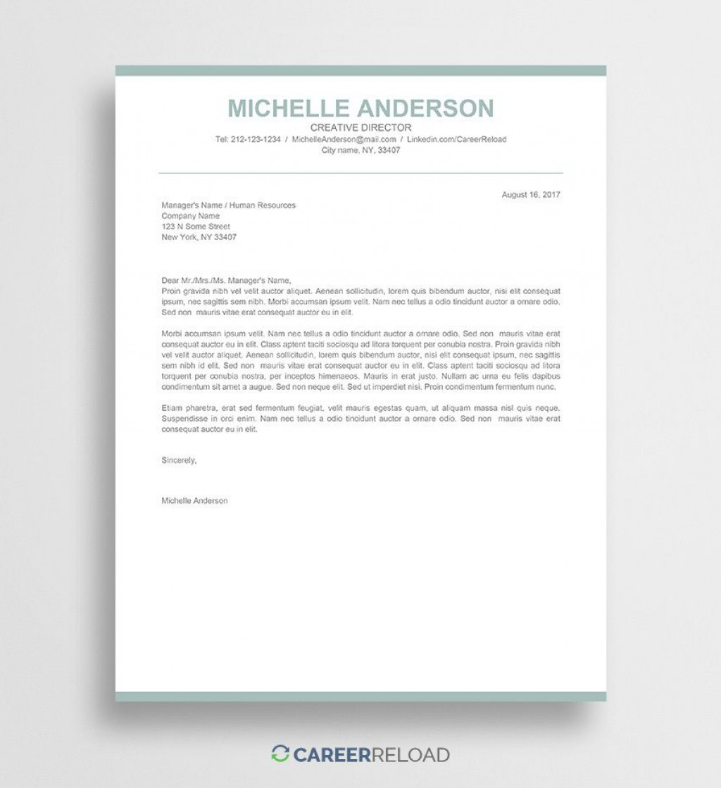 009 Formidable Free Cover Letter Template Download Inspiration  Word Doc ModernLarge
