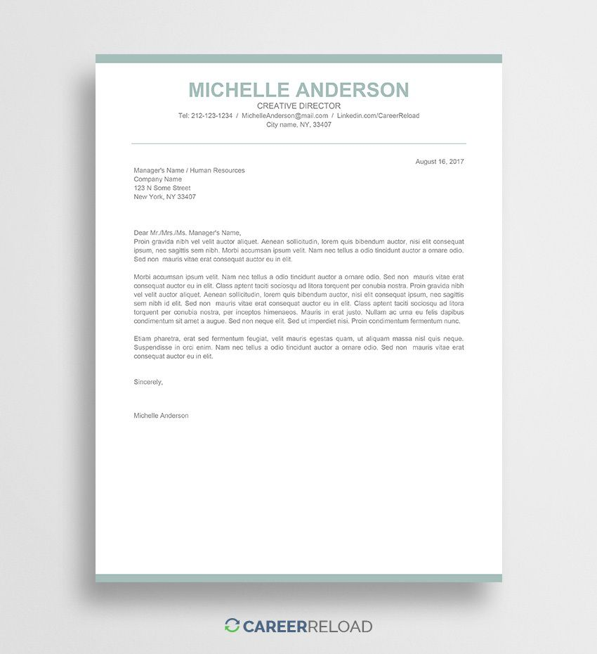 009 Formidable Free Cover Letter Template Download Inspiration  Word Doc ModernFull