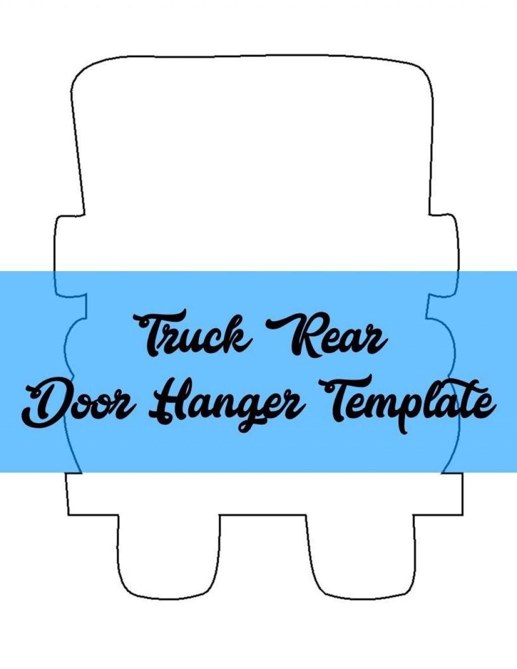 009 Formidable Free Download Door Hanger Template Concept Large
