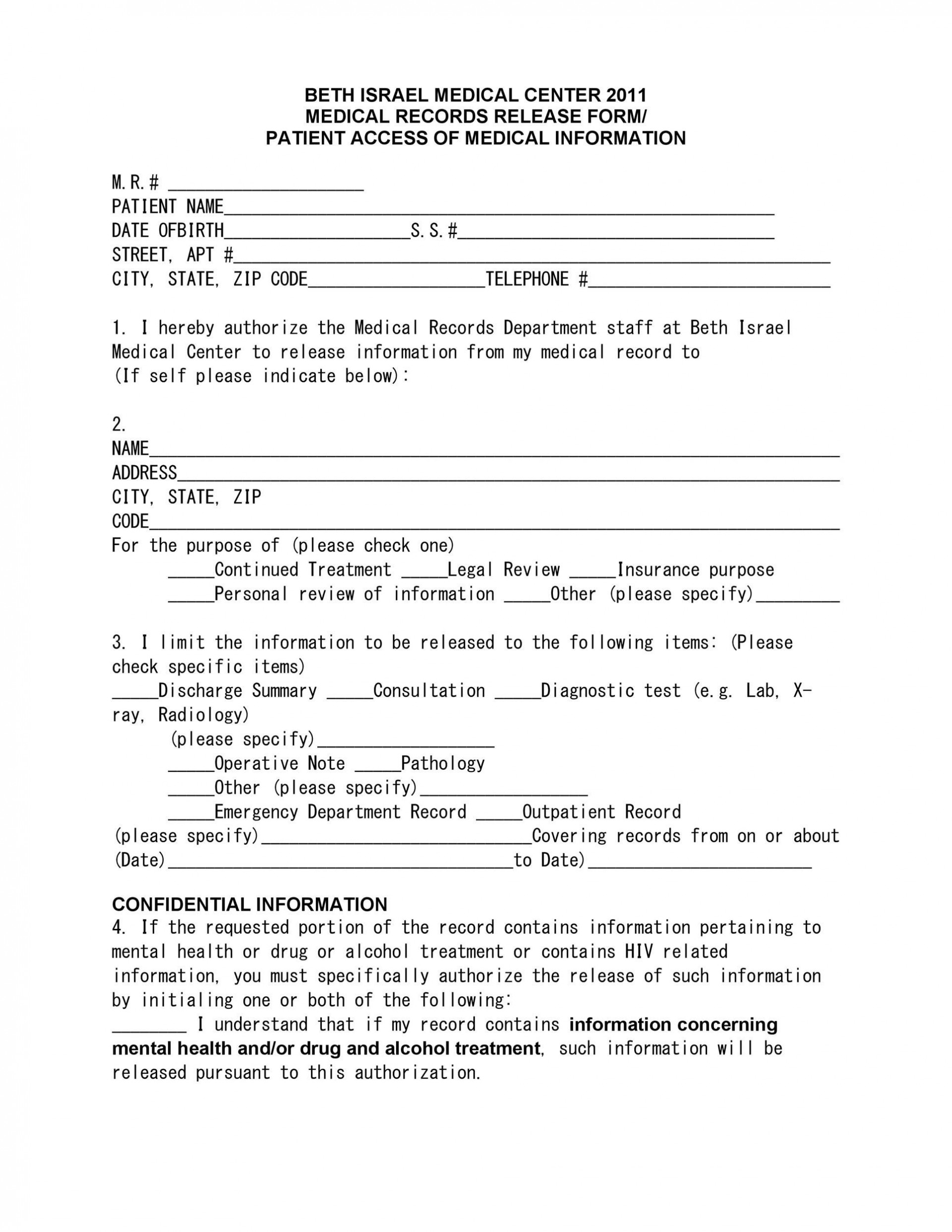 009 Formidable Free Personal Medical History Template Idea  Printable Form1920