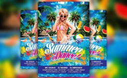 009 Formidable Free Pool Party Flyer Template Psd Highest Quality  Photoshop