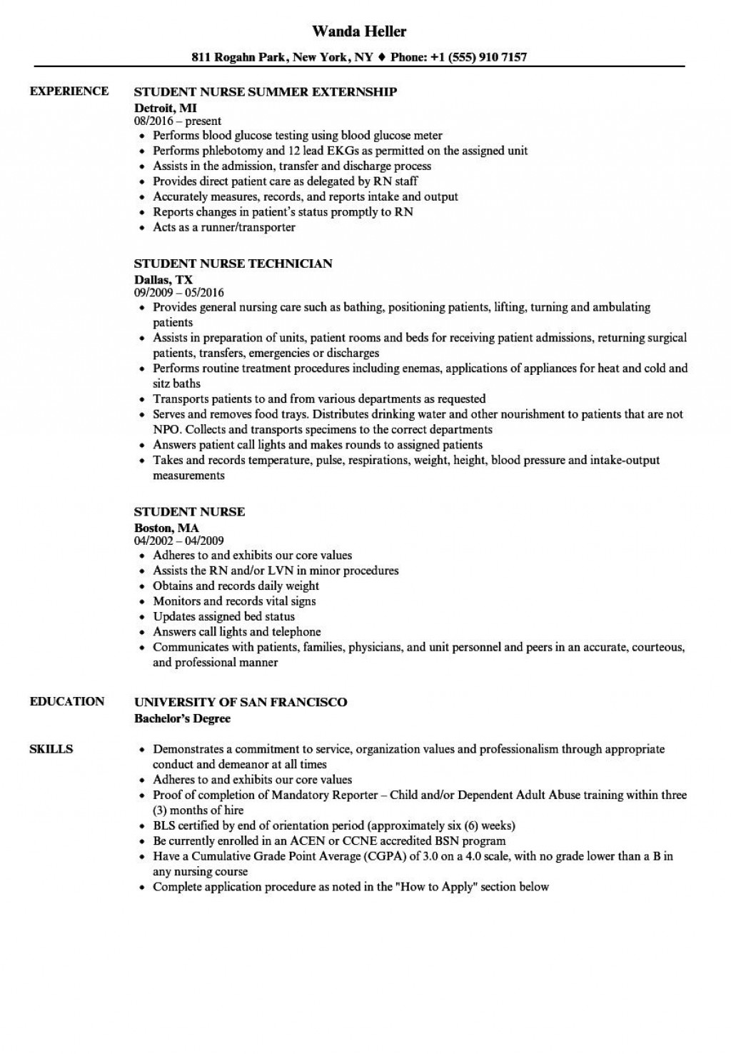 009 Formidable Graduate Nurse Resume Template Highest Quality  Student Free New Practitioner GradLarge