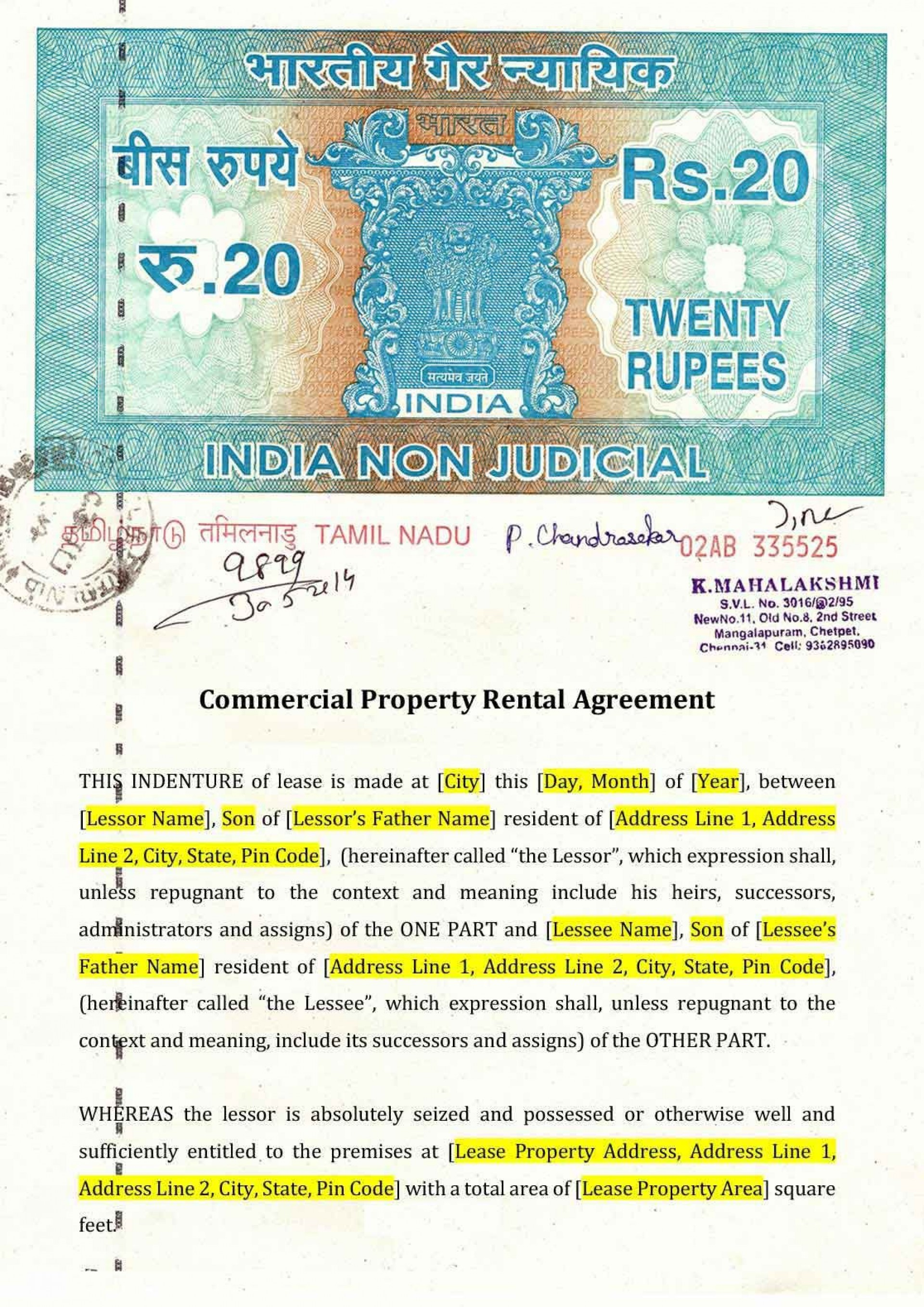 009 Formidable Lease Agreement Template Word India Inspiration  Rental1920