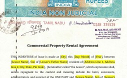 009 Formidable Lease Agreement Template Word India Inspiration  Rental