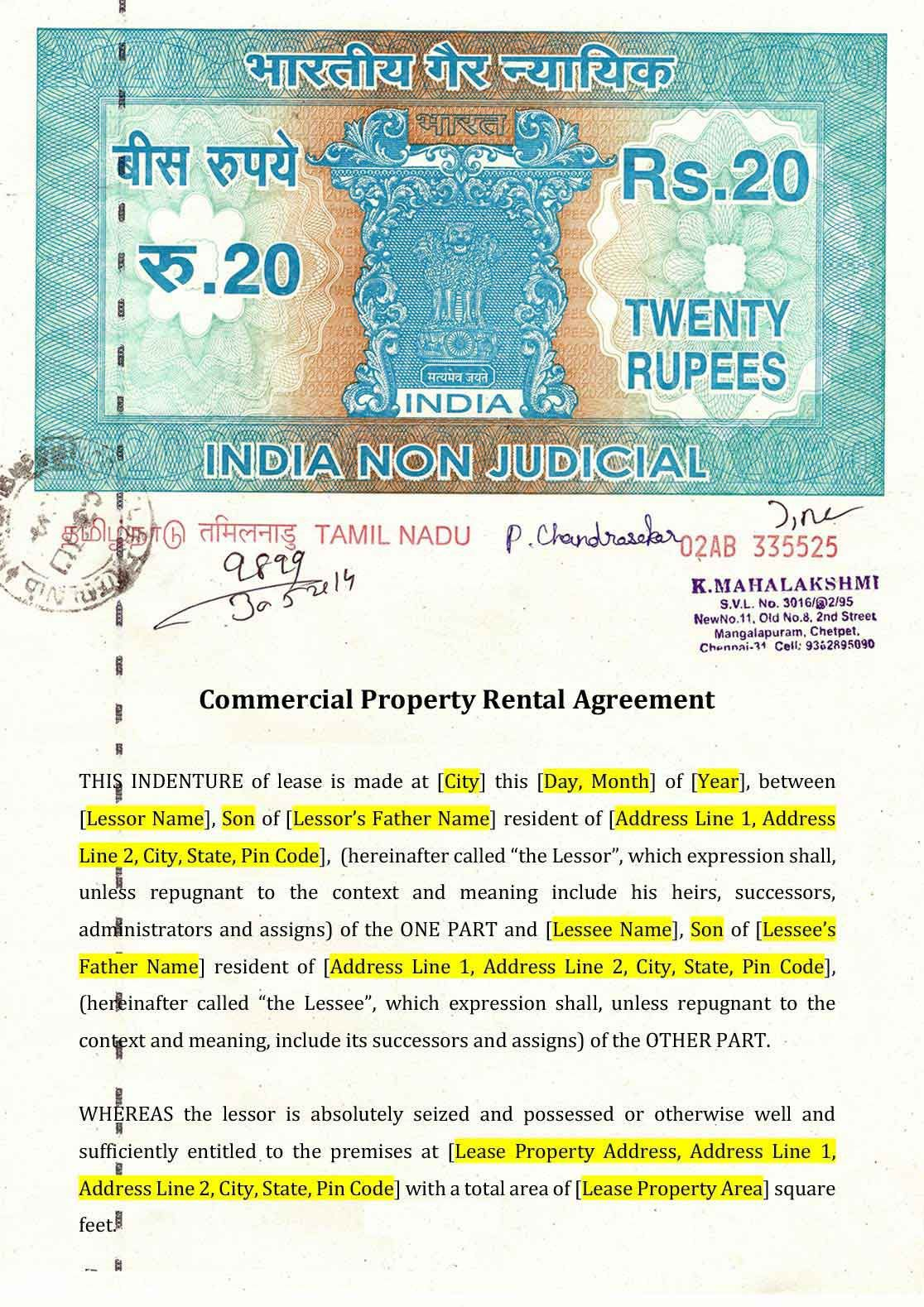 009 Formidable Lease Agreement Template Word India Inspiration  RentalFull