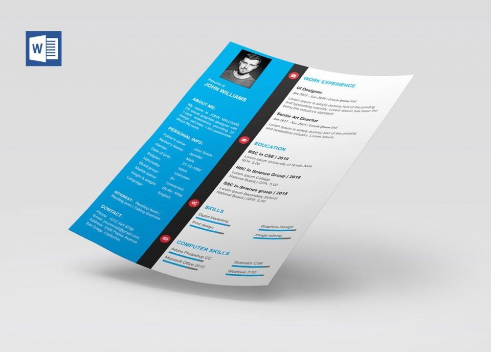 009 Formidable Microsoft Word Template Download Example  Cv Free Portfolio960