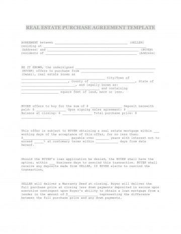 009 Formidable Property Purchase Agreement Template Free High Def  Mobile Home360