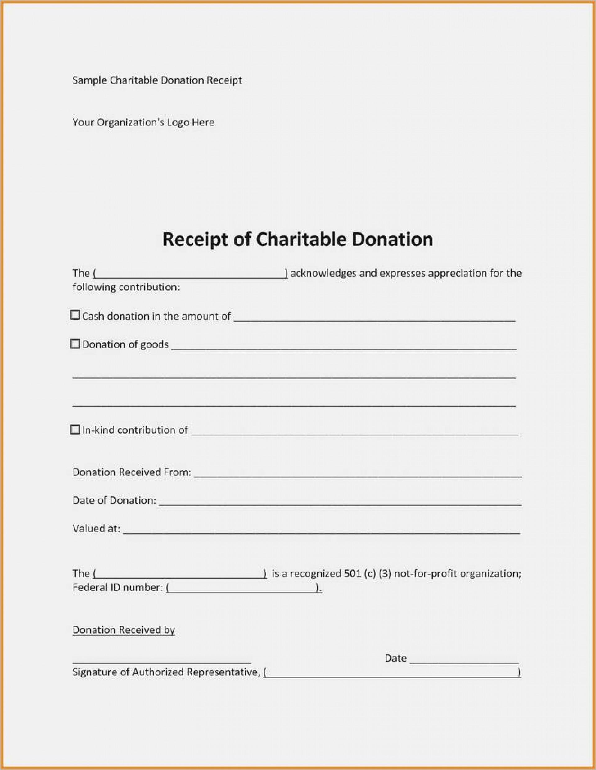 009 Formidable Tax Donation Receipt Template Design  Canadian Charitable Letter Church Deduction1920