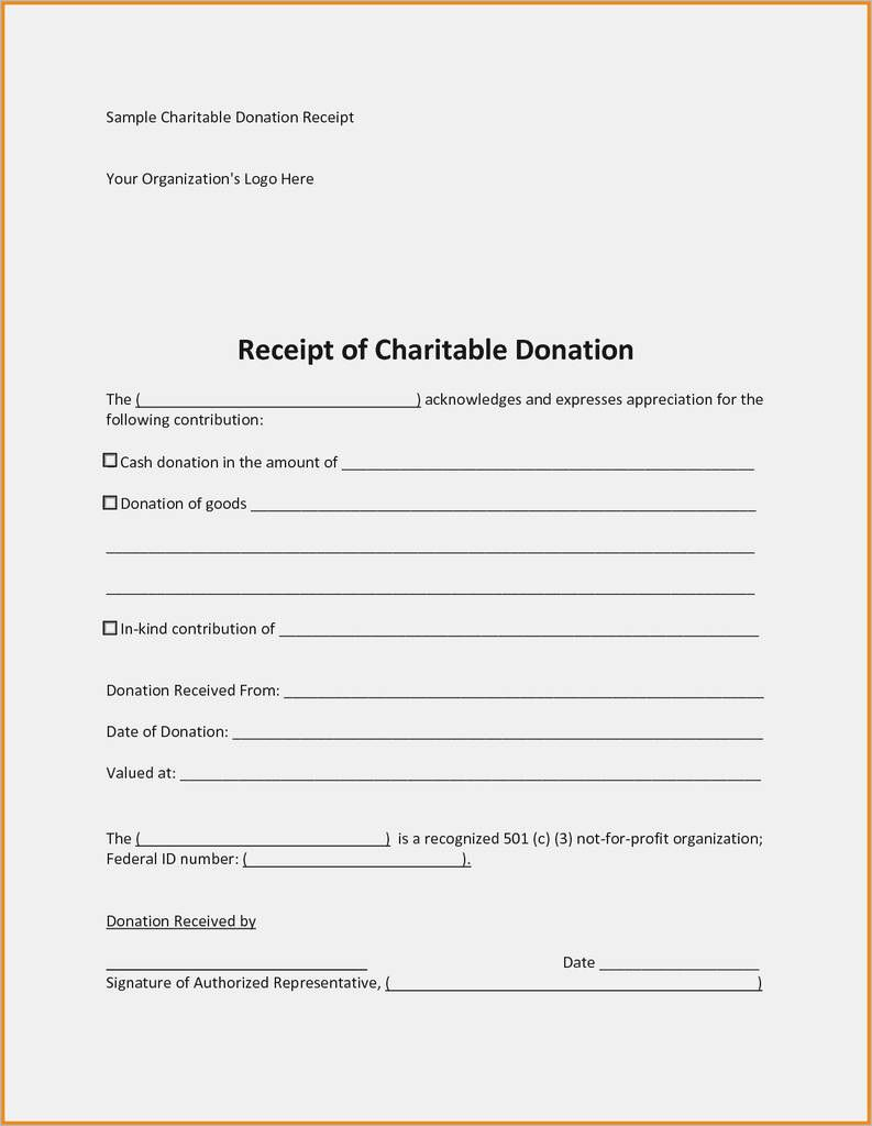 009 Formidable Tax Donation Receipt Template Design  Canadian Charitable Letter Church DeductionFull