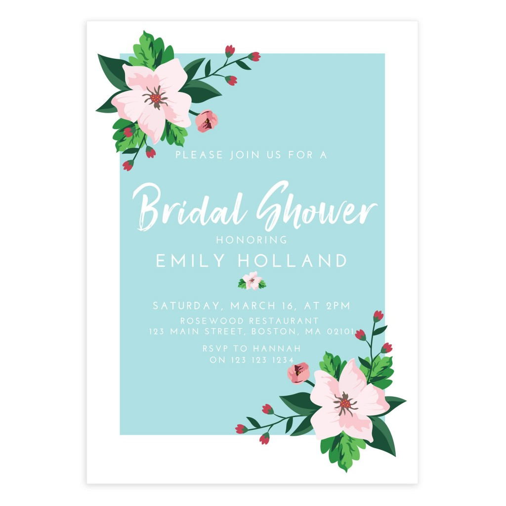 009 Formidable Wedding Shower Invitation Template Sample  Templates Bridal Pinterest Microsoft Word Free ForLarge