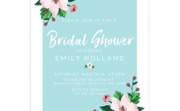 009 Formidable Wedding Shower Invitation Template Sample  Templates Bridal Pinterest Microsoft Word Free For