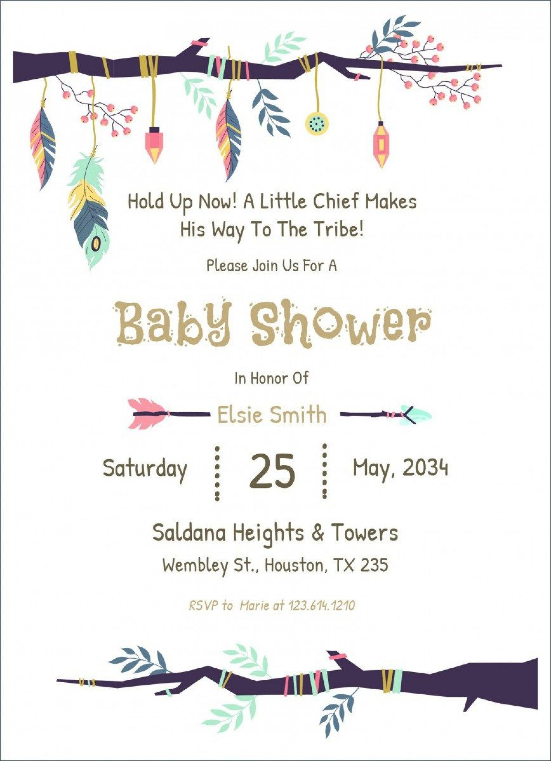 009 Frightening Baby Shower Card Template Free Download Picture  Indian Invitation1920