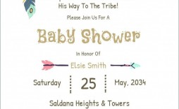 009 Frightening Baby Shower Card Template Free Download Picture  Indian Invitation