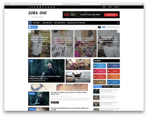 009 Frightening Best Free Responsive Blogger Template Download Example 480