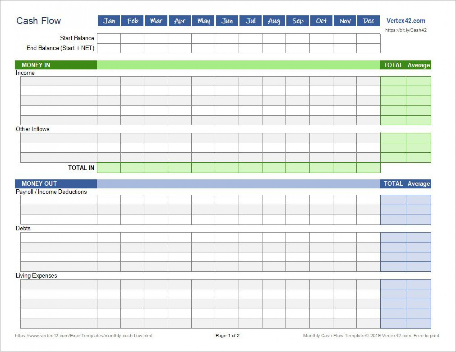 Excel Family Budget Template Addictionary