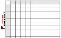 009 Frightening Football Square Template Excel Concept  Printable Pool
