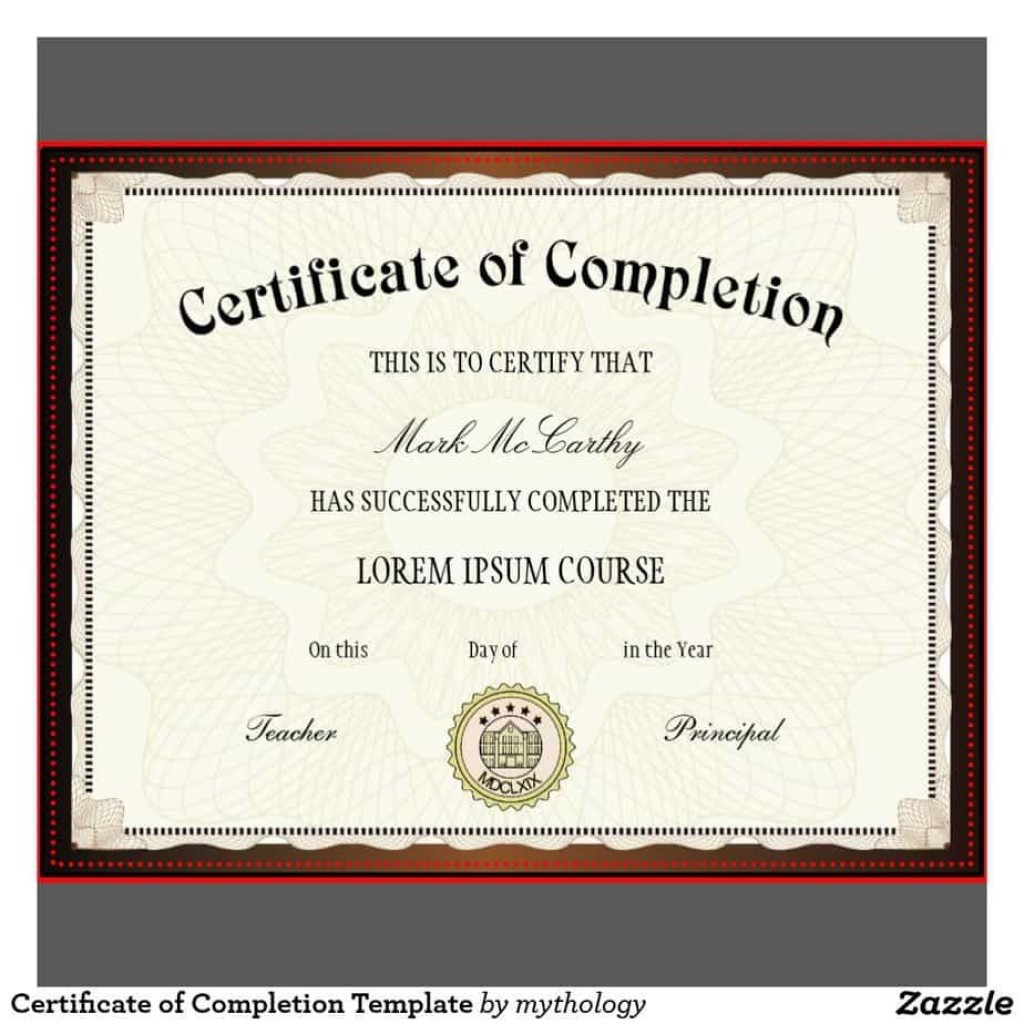 009 Frightening Free Certificate Of Completion Template Highest Quality  Blank Printable Download Word PdfLarge