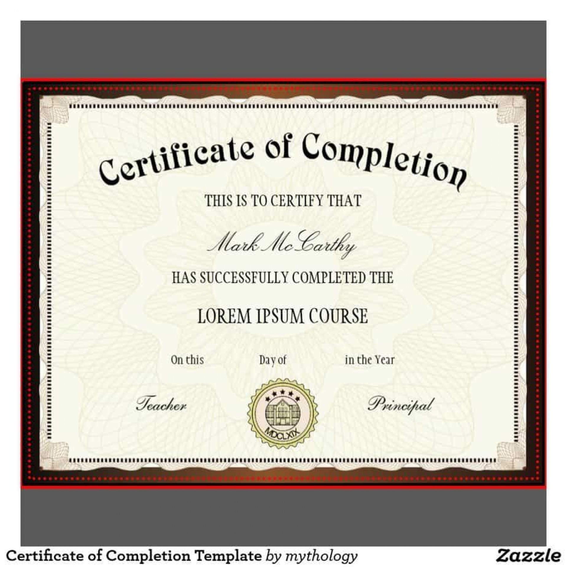 009 Frightening Free Certificate Of Completion Template Highest Quality  Blank Printable Download Word Pdf1920