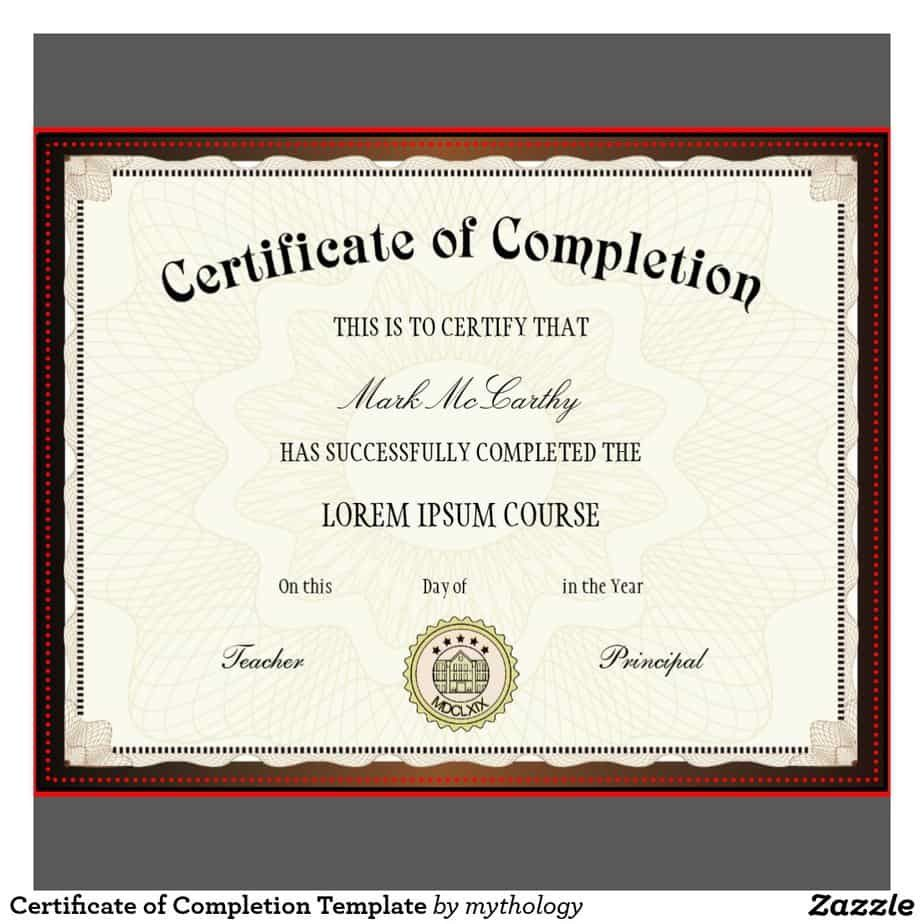 009 Frightening Free Certificate Of Completion Template Highest Quality  Blank Printable Download Word PdfFull