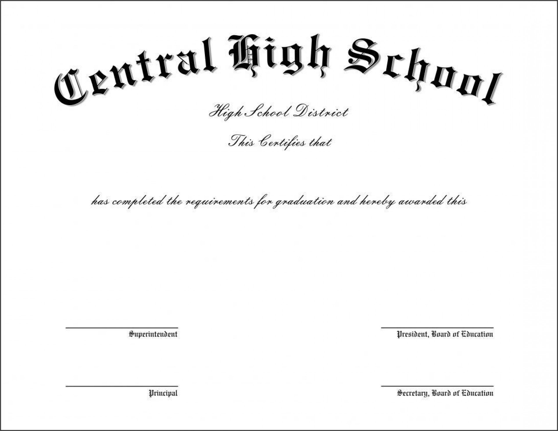 009 Frightening Free Printable High School Diploma Template Resolution  With Seal1920