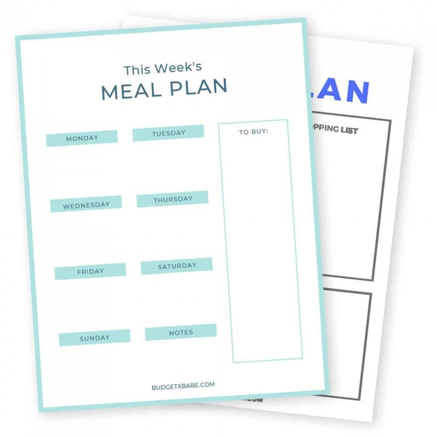 009 Frightening Meal Plan Printable Pdf Example  Worksheet Downloadable Template Sheet1400