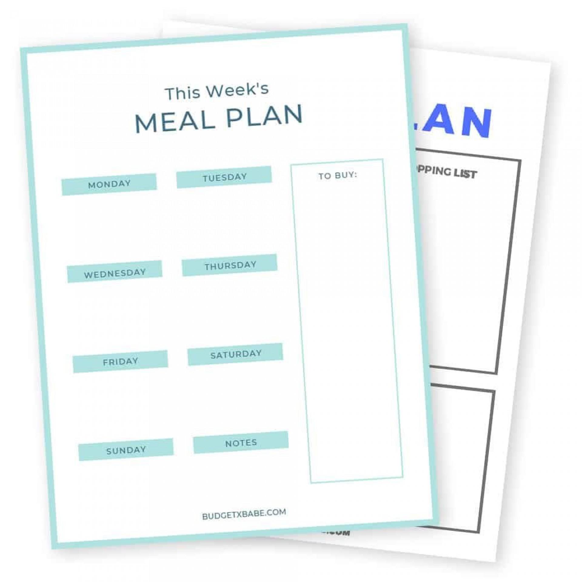 009 Frightening Meal Plan Printable Pdf Example  Worksheet Downloadable Template Sheet1920