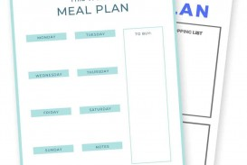 009 Frightening Meal Plan Printable Pdf Example  Worksheet Downloadable Template Sheet