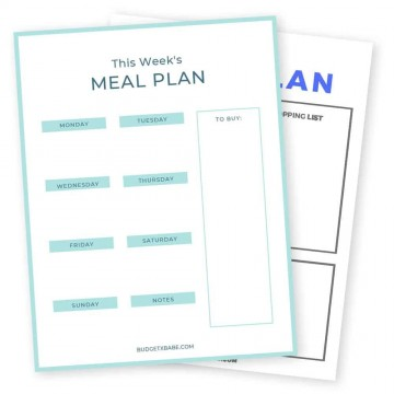 009 Frightening Meal Plan Printable Pdf Example  Worksheet Downloadable Template Sheet360