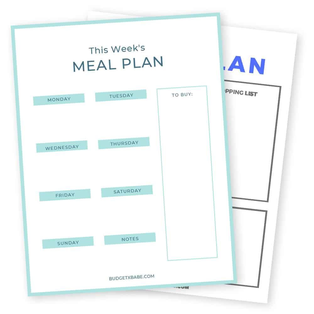 009 Frightening Meal Plan Printable Pdf Example  Worksheet Downloadable Template SheetFull