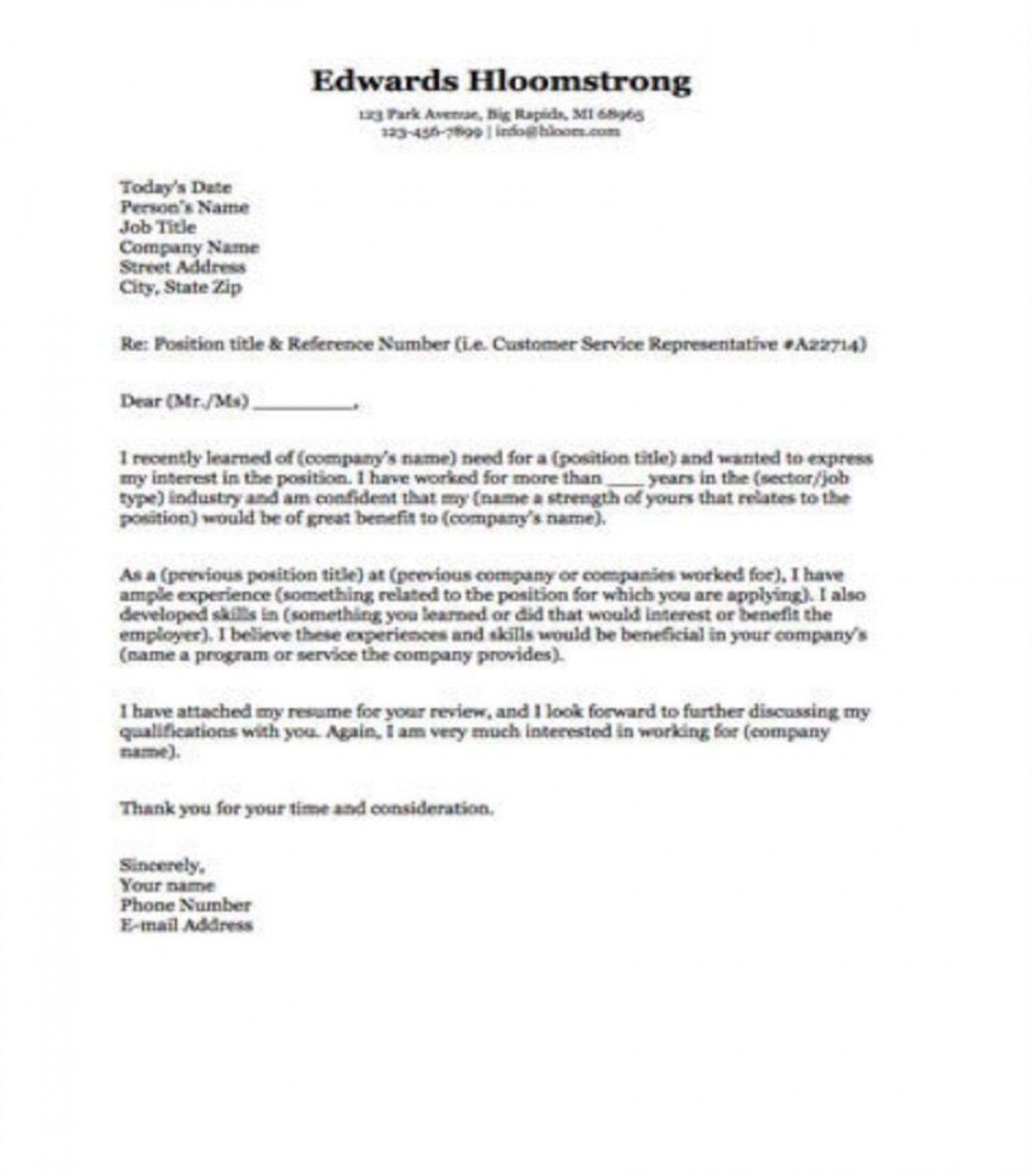 009 Frightening Microsoft Cover Letter Template 2020 High Definition 1920