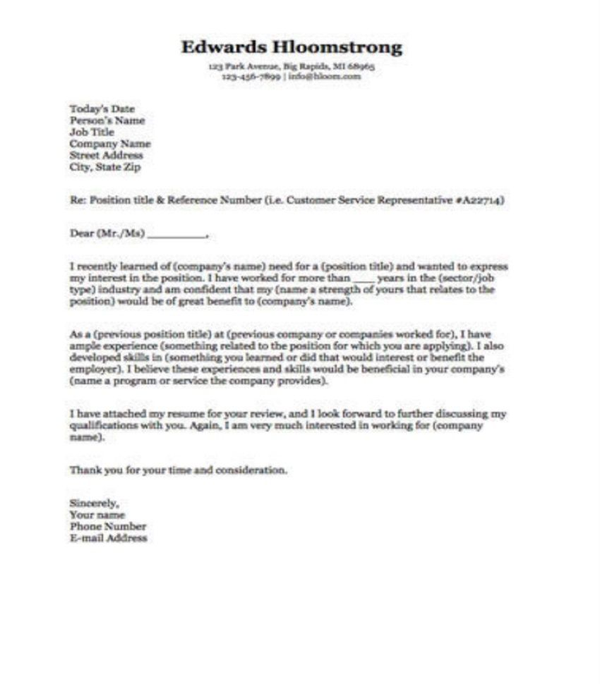 009 Frightening Microsoft Cover Letter Template 2020 High Definition Full