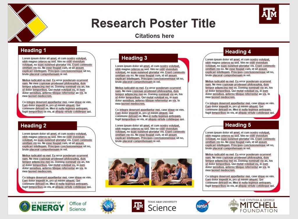 009 Frightening Research Poster Template Powerpoint Highest Clarity  Scientific PptLarge