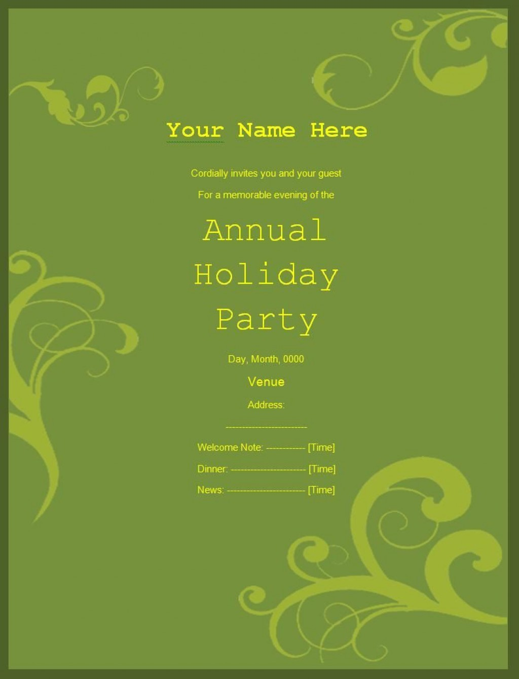 009 Frightening Retirement Party Invitation Template Free Word Idea  MLarge