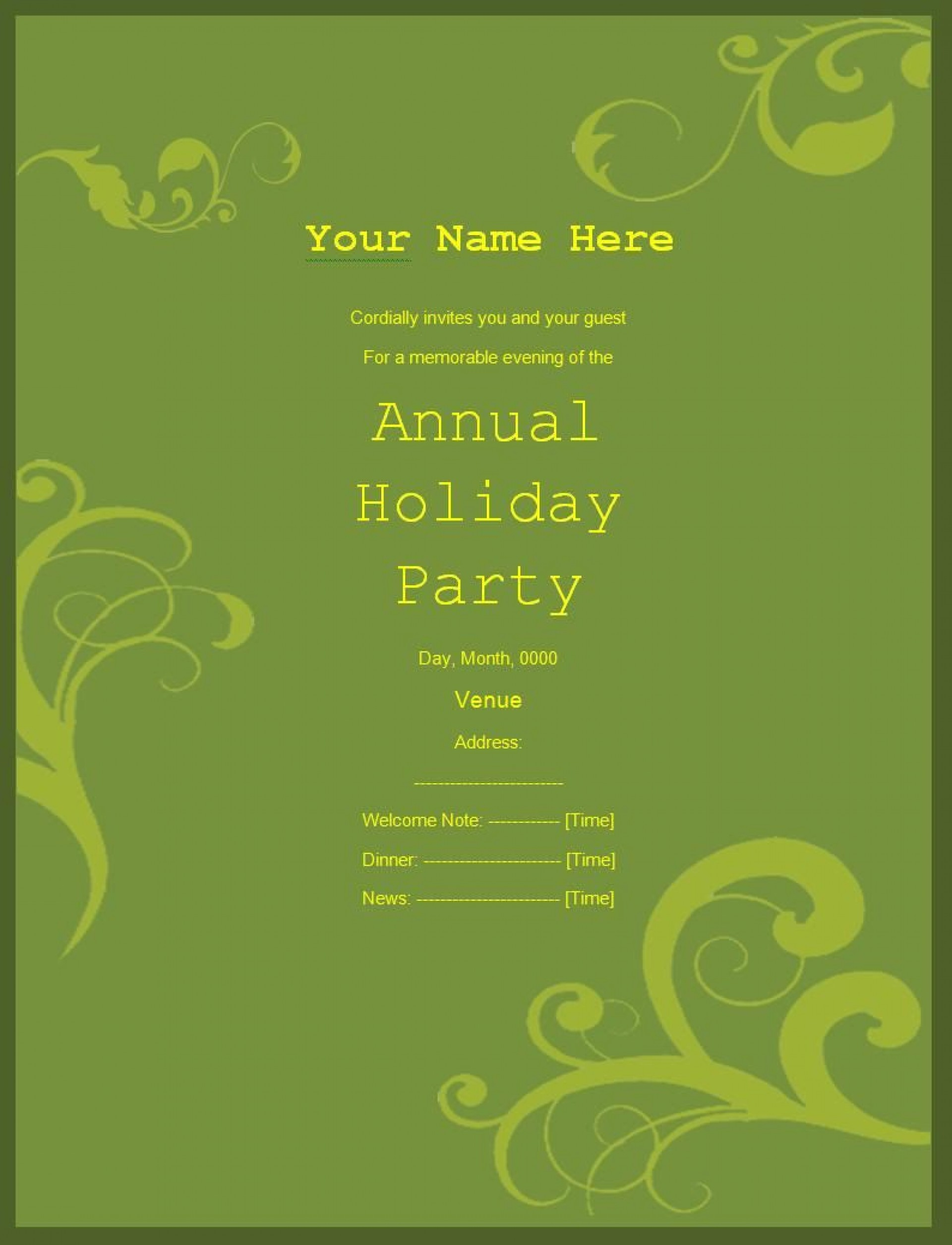 009 Frightening Retirement Party Invitation Template Free Word Idea  M1920