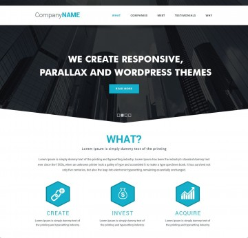 009 Frightening Simple One Page Website Template Free Download Inspiration  Html With Cs360