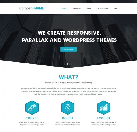 009 Frightening Simple One Page Website Template Free Download Inspiration  Html With Cs480