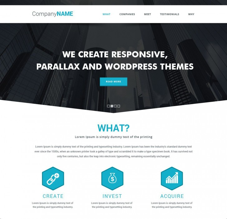 009 Frightening Simple One Page Website Template Free Download Inspiration  Html With Cs728
