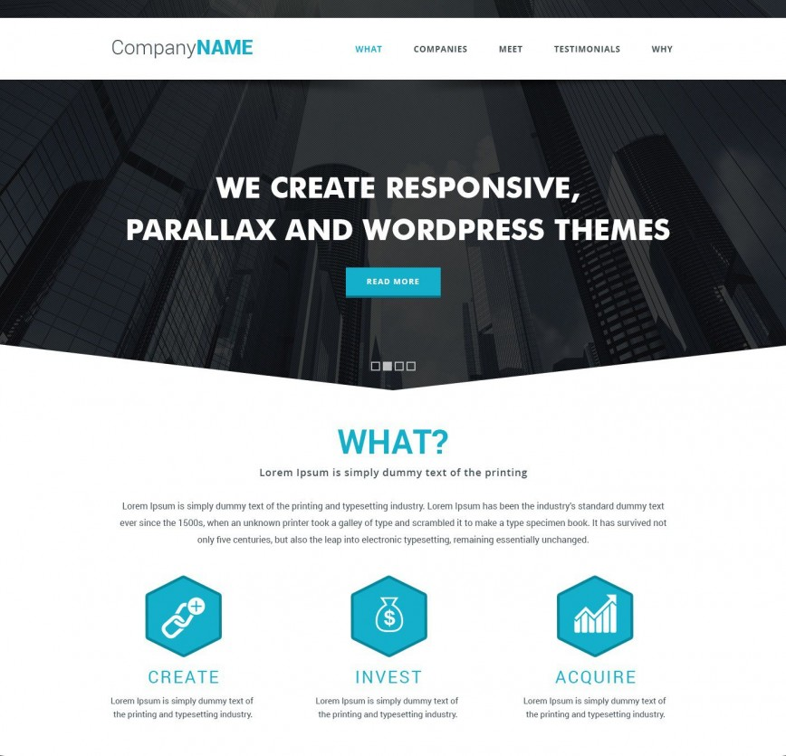 009 Frightening Simple One Page Website Template Free Download Inspiration  Html With Cs868