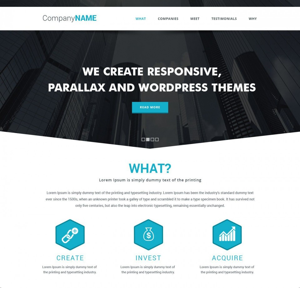 009 Frightening Simple One Page Website Template Free Download Inspiration  Html With Cs960