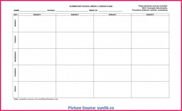 009 Frightening Weekly Lesson Plan Template Editable Idea  Google Doc Preschool Downloadable Free728