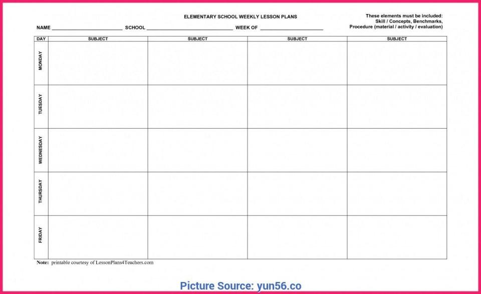 009 Frightening Weekly Lesson Plan Template Editable Idea  Google Doc Preschool Downloadable Free960