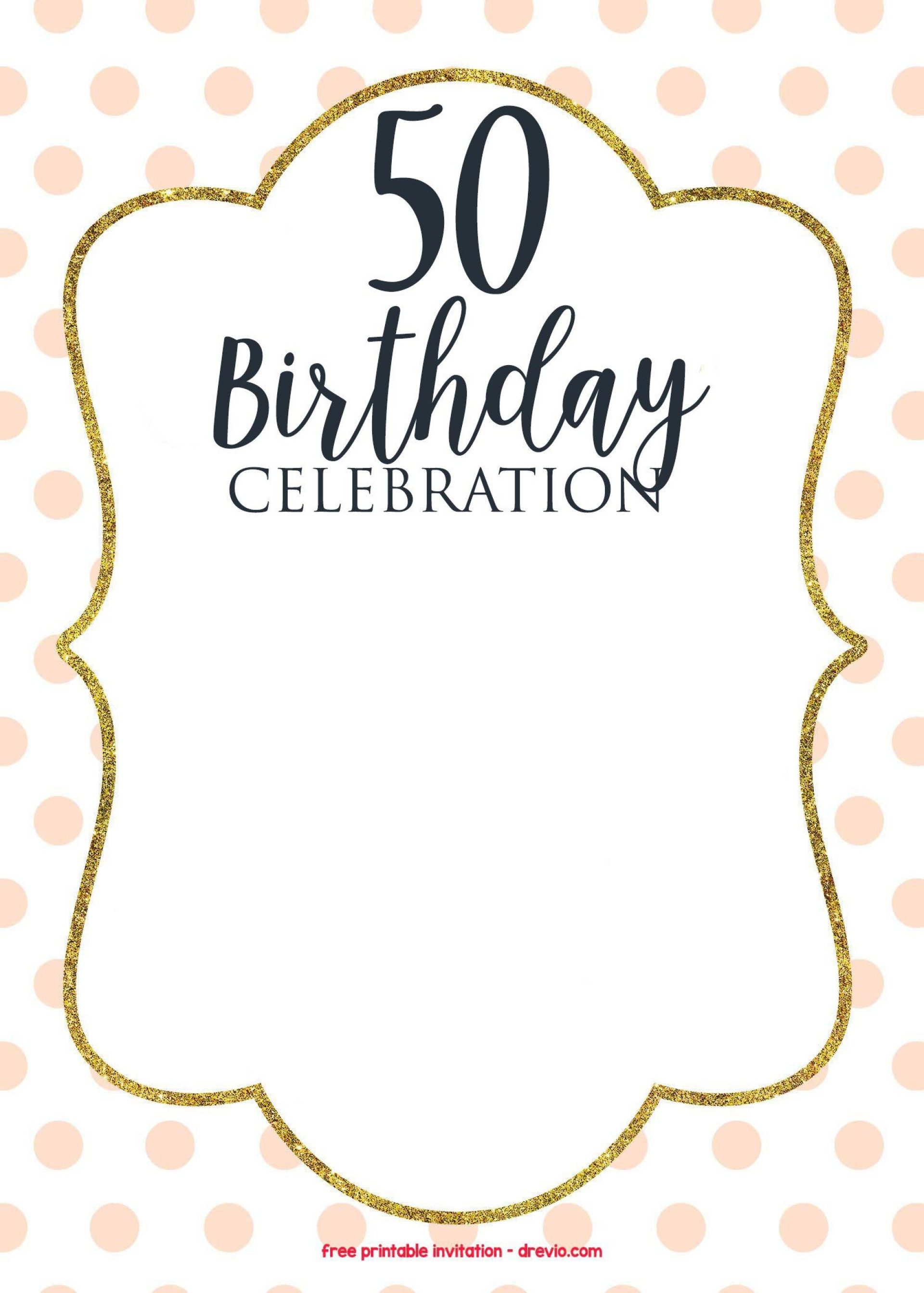 009 Imposing 50th Birthday Invitation Template Picture  Vector Free For Him1920