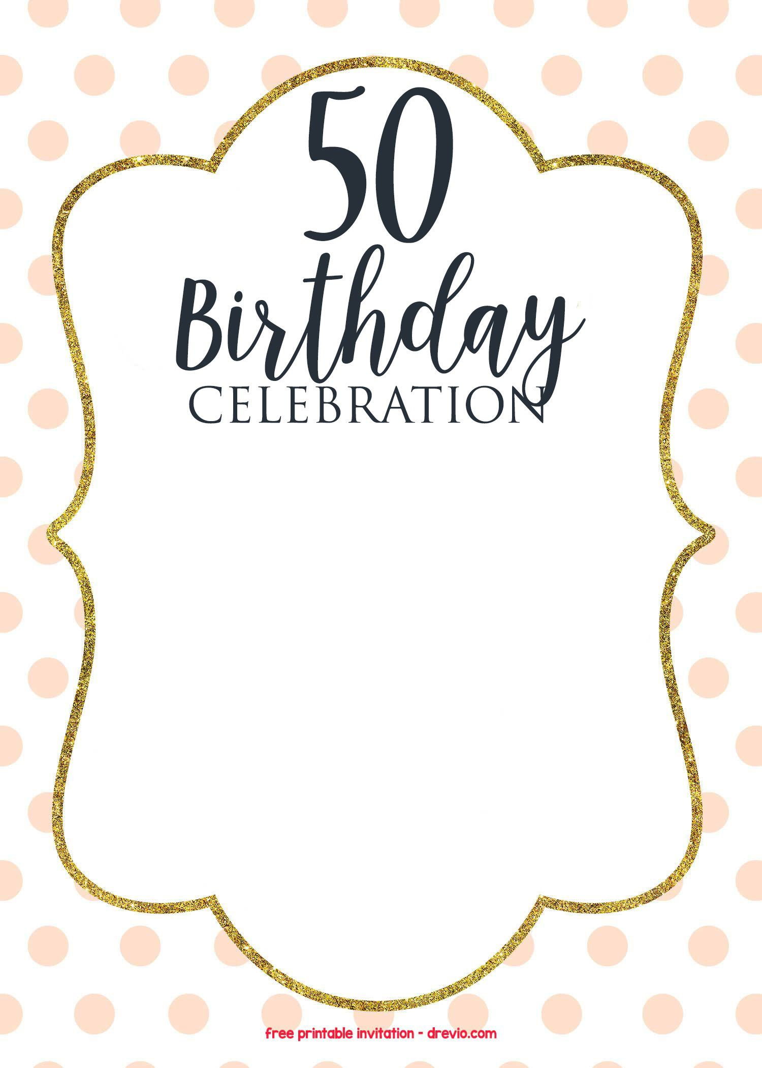 009 Imposing 50th Birthday Invitation Template Picture  Vector Free For HimFull