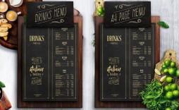 009 Imposing Bar Menu Template Free Example  Download Snack