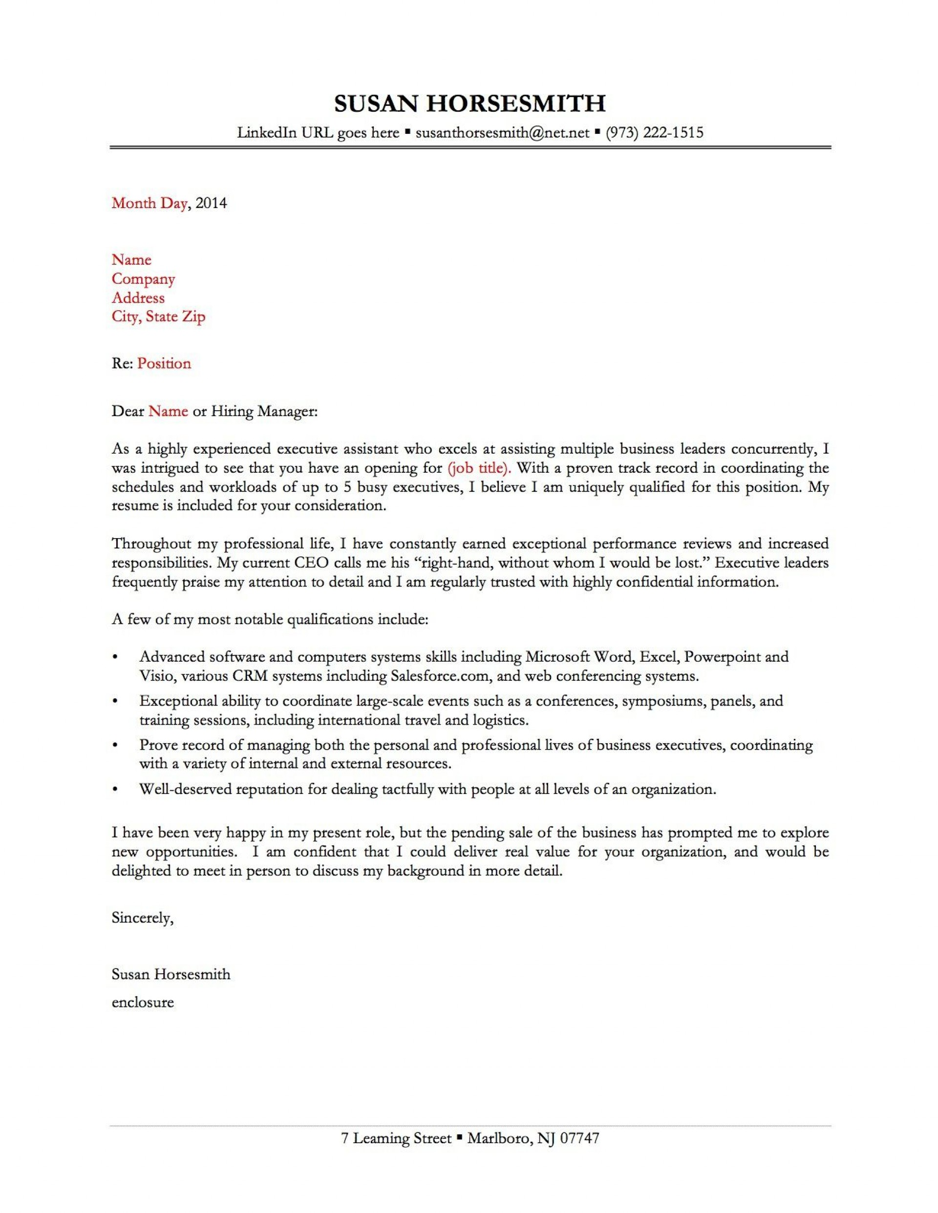 009 Imposing Best Covering Letter Example Photo  Examples Sample Uk1920