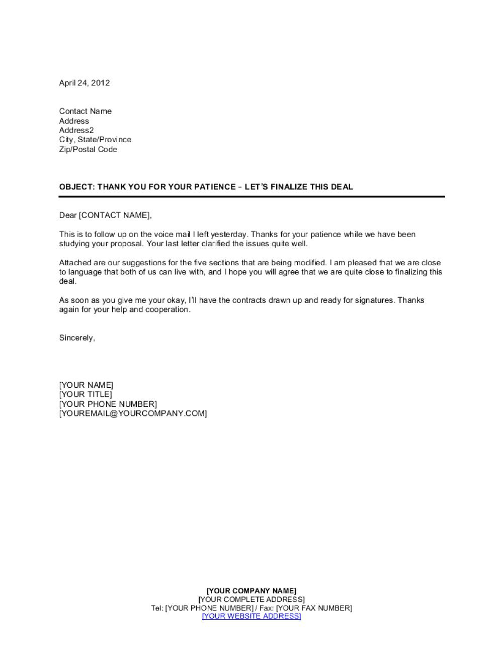 009 Imposing Busines Proposal Letter Template Concept  Free DownloadFull