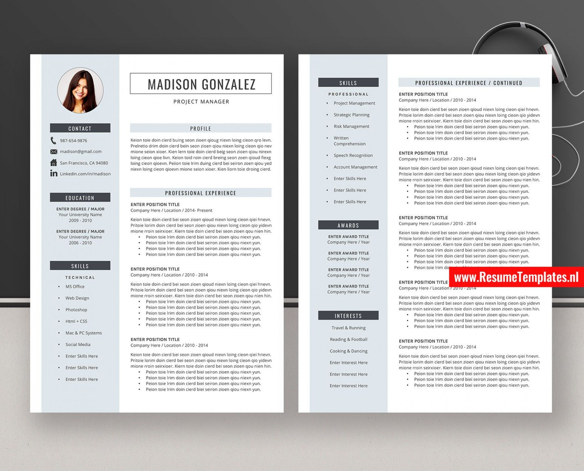 009 Imposing Curriculum Vitae Word Template Sample  Templates Download M 2019 Cv Free1920