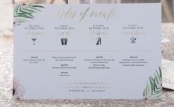 009 Imposing Destination Wedding Welcome Letter Template Design  And Itinerary